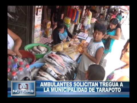 Ambulantes solicitan tregua a la municipalidad de tarapoto