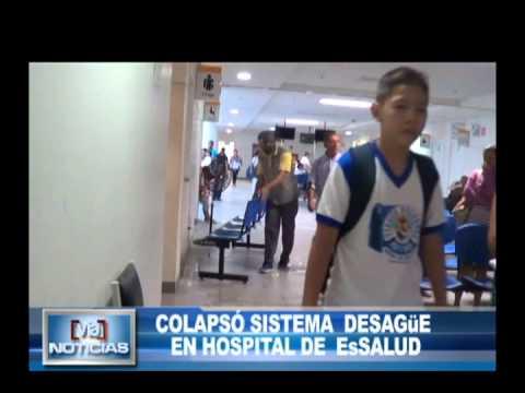 Colapsó sistema de desagüe en hospital de EsSalud