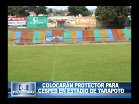 Colocarán protector para césped en estadio de Tarapoto