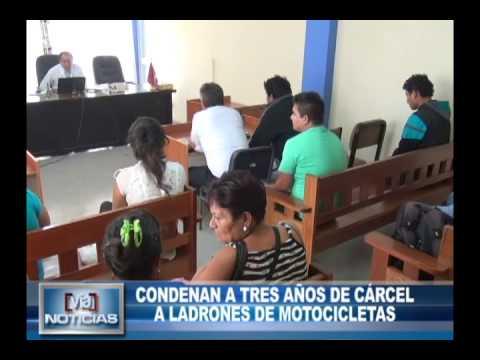 Condenan a tres años de cárcel a ladrones de motocicleta