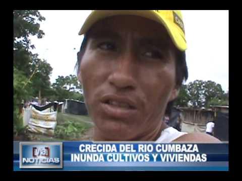 CRECIDA DEL RIO CUMBAZA INUNDA CULTIVOS Y VIVIENDAS