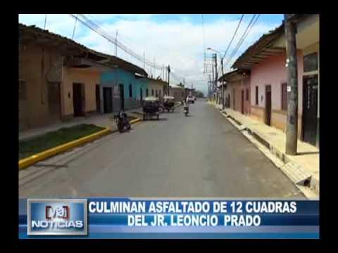 Culminan asfaltado 12 cuadras del jirón Leoncio Prado
