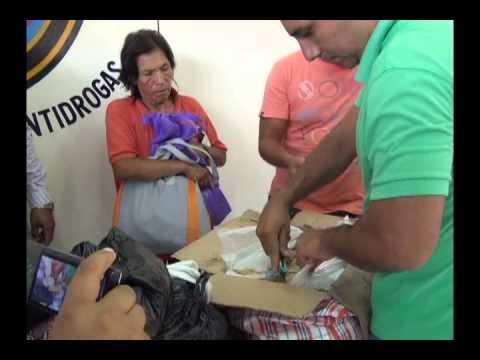 Detienen a mujer con 8 kilos de clorhidrato de cocaína