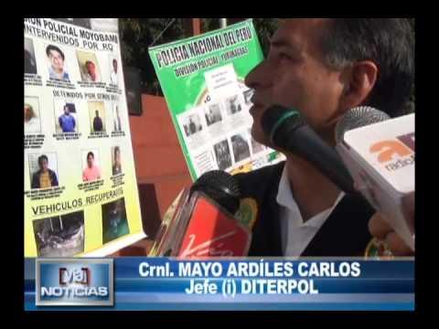 DIRTEPOL presenta logros de operativos ejecutados