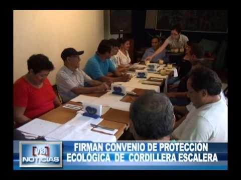Firman convenio de protección ecológica de cordillera Escalera