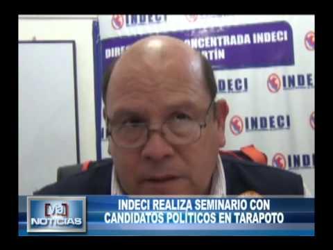 INDECI realiza seminario con candidatos políticos en Tarapoto