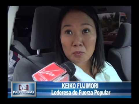 Keiko Fujimori llegó a Tarapoto y recorre la región