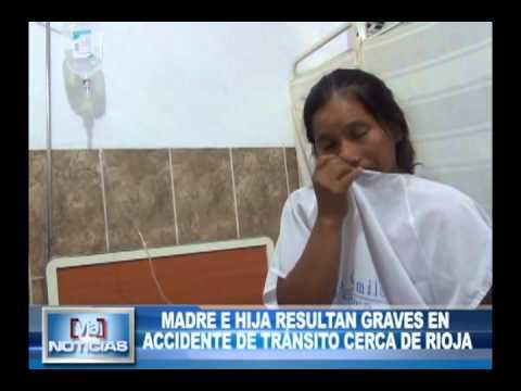 Madre e hija resultan graves en accidente de tránsito cerca de rioja