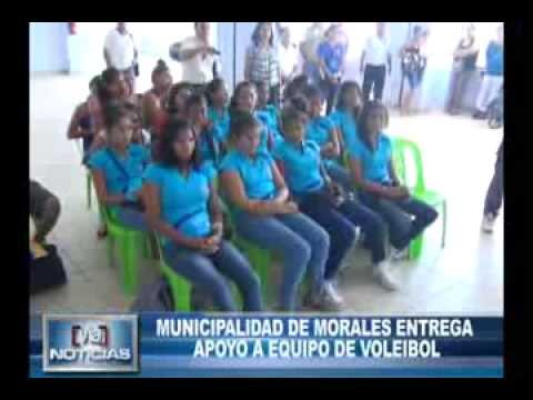 MUNICIPALIDAD DE MORALES ENTREGA APOYO AL EQUIPO DE VOLEIBOL DE ESE DISTRITO