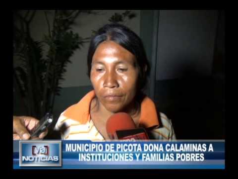 Municipio de picota dona calaminas a instituciones y familias pobres