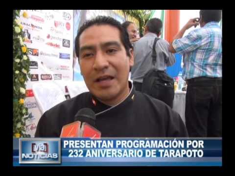 Presentan programación por 232 Aniversario de Tarapoto