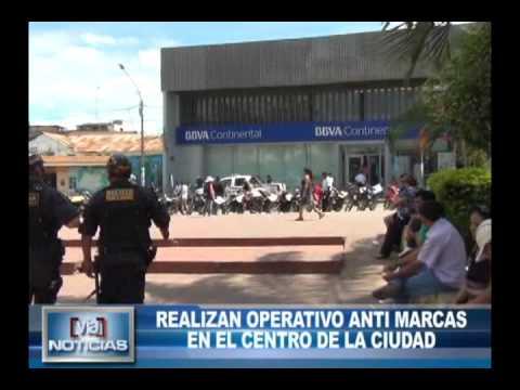 Realizan operativo anti marcas en el centro de la ciudad
