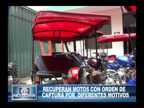 Recuperan motos con orden de captura por diferentes motivos