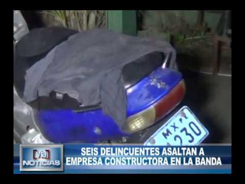 Seis delincuentes asaltan a empresa constructora en la Banda