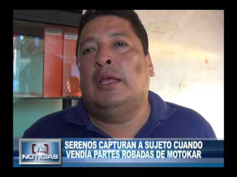 Serenos capturan a sujeto cuando vendía partes robadas de motokar