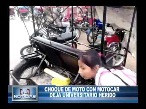 Choque de motos deja universitario herido en Jr. Progreso