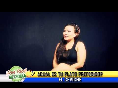 Evelin Tihuay en Que Rico Medio Dia
