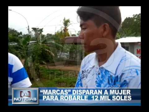 """Marcas"" disparan a mujer para robarle 12 mil soles"
