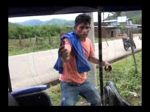 Motocar casi termina en precipicio tras quedarse sin frenos en Chazuta