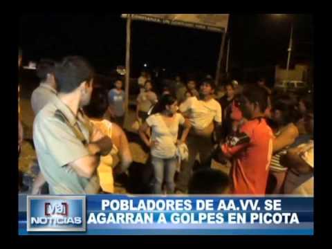Pobladores de AA.VV se agarran a golpes en Picota