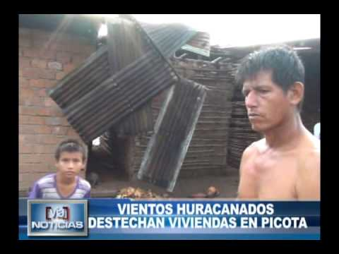 Vientos Huracanados destechan viviendas en Picota