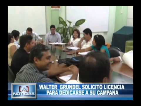 Walter Grundel solicitó licencia para dedicarse a su campaña