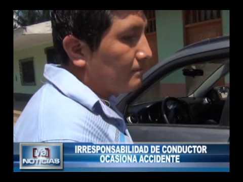 Irresponsabilidad de conductor ocasiona accidente