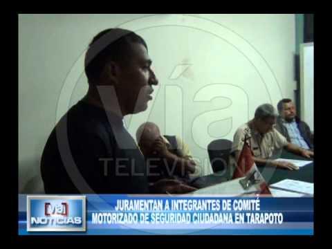 Juramentan a integrantes de comité motorizado de seguridad ciudadana en Tarapoto