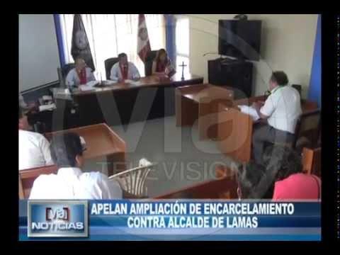 Apelan ampliación de encarcelamiento contra alcalde de Lamas