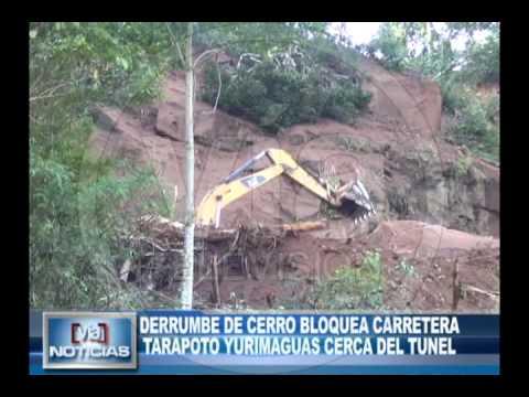 Derrumbe de cerro bloquea carretera Tarapoto – Yurimaguas