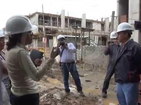 Comitiva del frecides visita construcción del hospital de Tarapoto