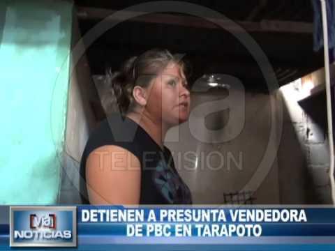 Detienen a presunta vendedora de PBC en Tarapoto