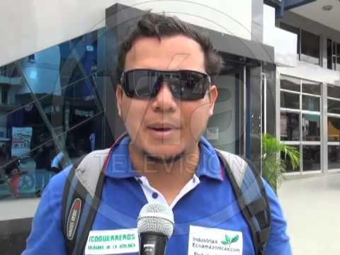 Ecoguerrero denuncia deforestación en Brisas del Cumbaza