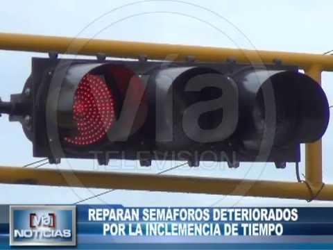 Reparan semáforos deteriorados por la inclemencia de tiempo