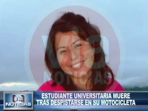 Estudiante universitaria muere tras despistarse en su motocicleta