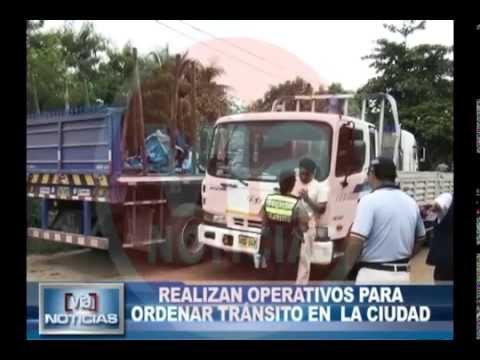 Realizan operativo para ordenar tránsito en la ciudad