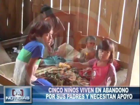 Cinco niños viven en abandono por sus padres y necesitan apoyo