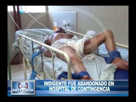 Indigente fue abandonado en hospital de contingencia