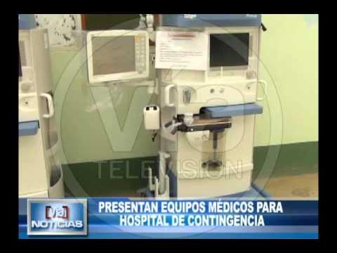 Presentan equipos médicos para  hospital de contingencia