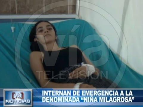 """Internan de emergencia a la denominada """"niña milagrosa"""""""