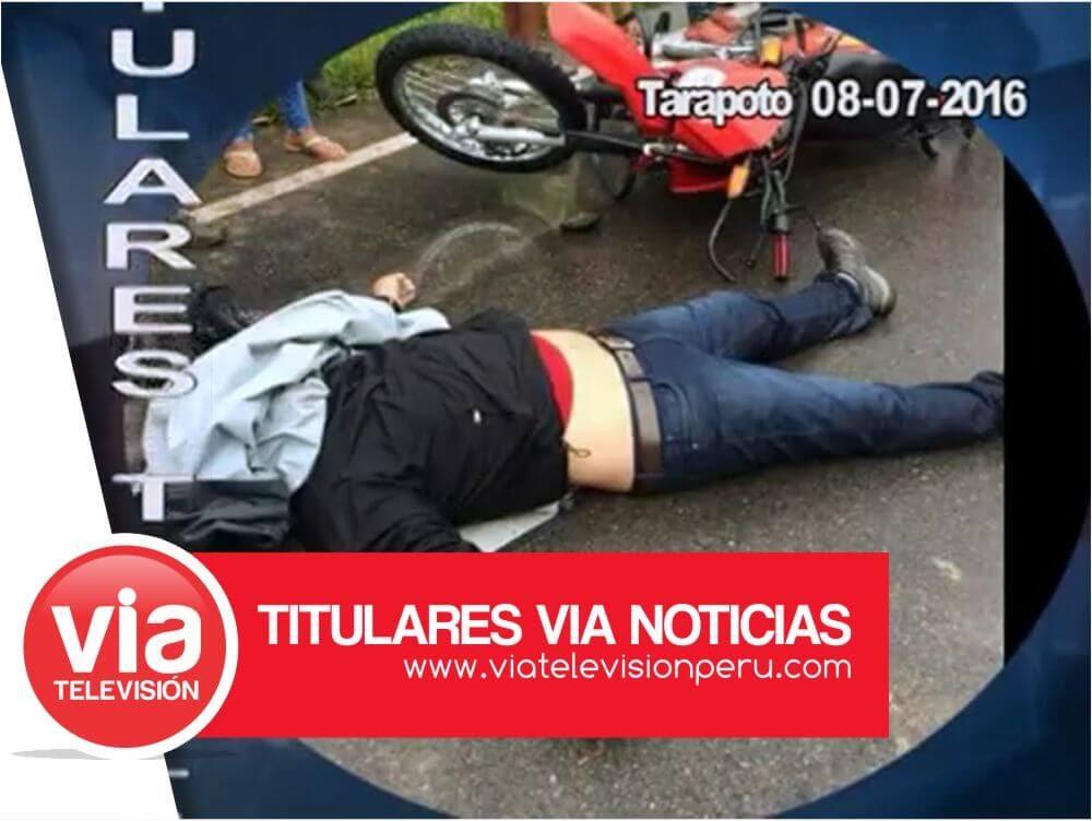 Titulares: viernes 08 de Julio del  2016 – Tarapoto