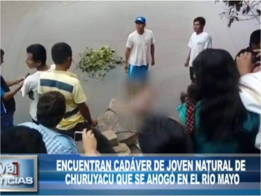 Encuentran cadáver de joven natural de Churuyacu que se ahogó en el río Mayo