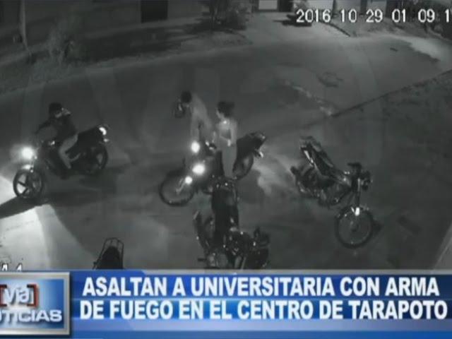 [VIDEO] Asaltan a universitaria con arma de fuego en el centro de Tarapoto