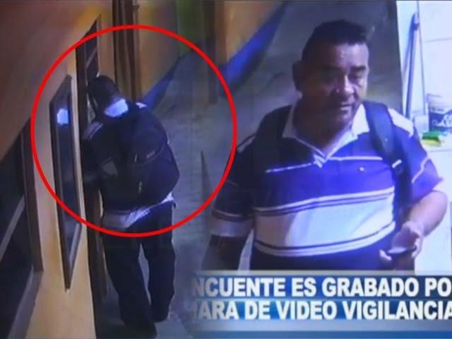 Delincuente es grabado por cámara de video vigilancia