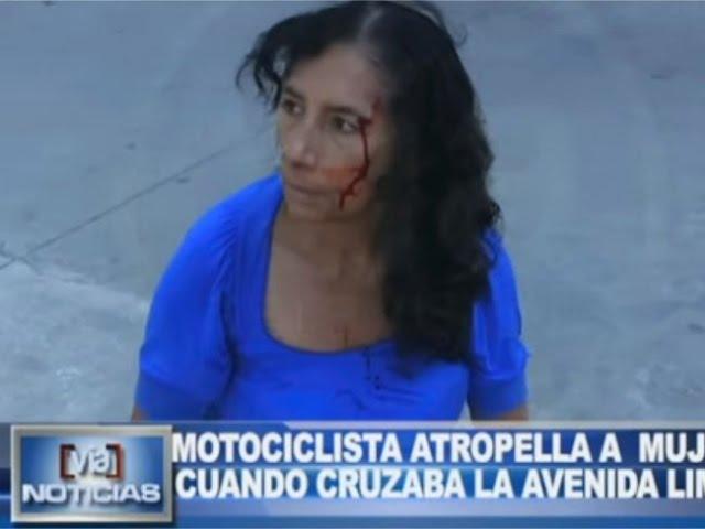 Tarapoto: motociclista atropella a mujer cuando cruzaba la Av. Lima