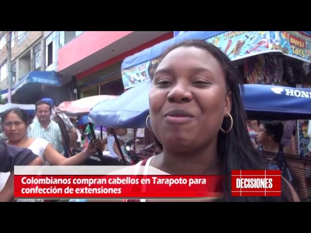 Colombianos compran cabellos a sanmartinenses