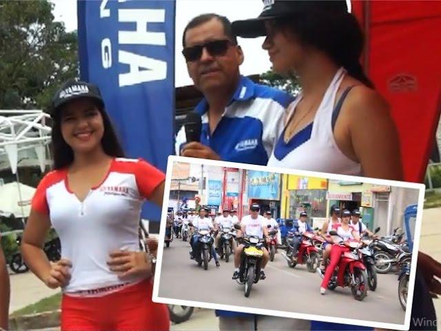 Caravana YAMAHA gran recorrido por las calles de Tarapoto