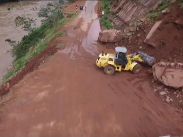 Derrumbe interrumpe tránsito vehicular en tramo Shapaja – Chazuta