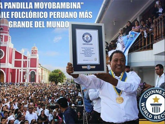 Moyobambinos logran récord guinness con tradicional pandilla