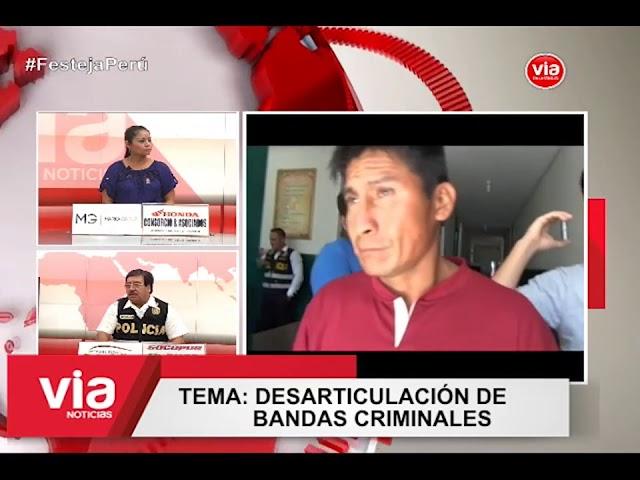 Secuencia Policía en Acción: Desarticulación de bandas criminales